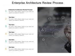 Enterprise Architecture Review Process Ppt Powerpoint Presentation File Information Cpb