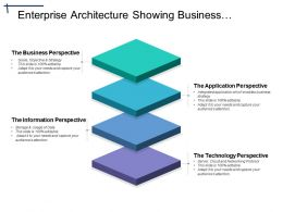 Enterprise Architecture Showing Business Perspective And Application Perspective