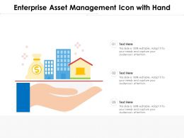 Enterprise Asset Management Icon With Hand