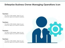 Enterprise Business Owner Managing Operations Icon