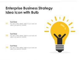 Enterprise Business Strategy Idea Icon With Bulb