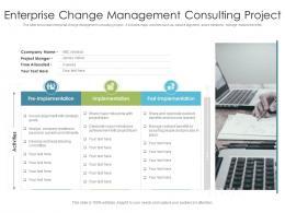 Enterprise Change Management Consulting Project