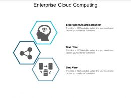 Enterprise Cloud Computing Ppt Powerpoint Presentation Gallery Deck Cpb