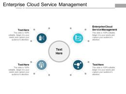 Enterprise Cloud Service Management Ppt Powerpoint Presentation Infographics Samples Cpb