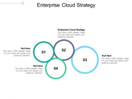 Enterprise Cloud Strategy Ppt Powerpoint Presentation Infographics Layout Cpb