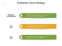 Enterprise Cloud Strategy Ppt Powerpoint Presentation Outline Samples Cpb