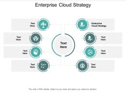 Enterprise Cloud Strategy Ppt Powerpoint Presentation Styles Format Cpb