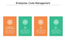 Enterprise Code Management Ppt Powerpoint Presentation Layouts Shapes Cpb