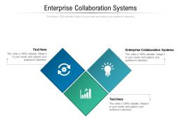 Enterprise Collaboration Systems Ppt Powerpoint Presentation Outline Pictures Cpb