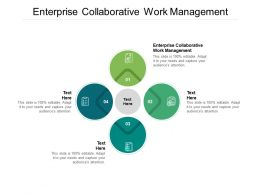 Enterprise Collaborative Work Management Ppt Powerpoint Presentation Slides Icons Cpb