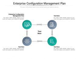 Enterprise Configuration Management Plan Ppt Powerpoint Presentation Ideas Slides Cpb