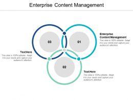 Enterprise Content Management Ppt Powerpoint Presentation Professional Information Cpb