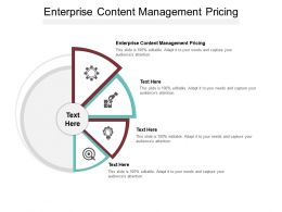 Enterprise Content Management Pricing Ppt Powerpoint Presentation Icon File Formats Cpb