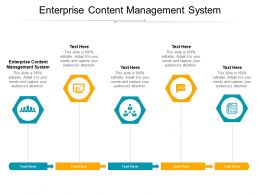 Enterprise Content Management System Ppt Powerpoint Presentation Pictures Influencers Cpb