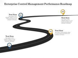 Enterprise Control Management Performance Roadmap Adapt Ppt Powerpoint Presentation File Files