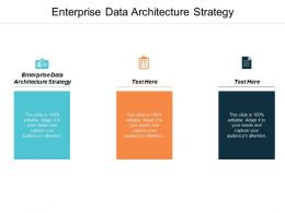Enterprise Data Architecture Strategy Ppt Powerpoint Presentation Infographic Template Introduction Cpb