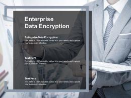 Enterprise Data Encryption Ppt Powerpoint Presentation Slides Mockup Cpb