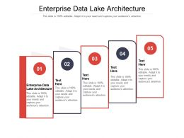 Enterprise Data Lake Architecture Ppt Powerpoint Presentation Pictures Layout Cpb
