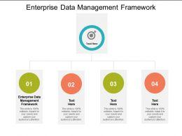 Enterprise Data Management Framework Ppt Powerpoint Presentation Professional Gridlines Cpb