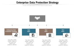 Enterprise Data Protection Strategy Ppt Powerpoint Presentation Ideas Format Ideas Cpb