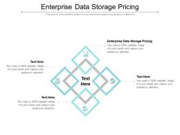 Enterprise Data Storage Pricing Ppt Powerpoint Presentation Infographics Information Cpb