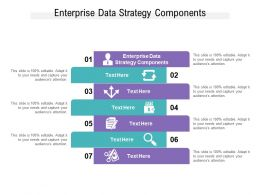 Enterprise Data Strategy Components Ppt Powerpoint Presentation Styles Grid Cpb