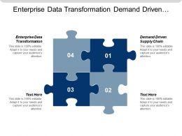 Enterprise Data Transformation Demand Driven Supply Chain E Commerce Transactions Cpb