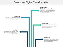 Enterprise Digital Transformation Ppt Powerpoint Presentation Slides Template Cpb