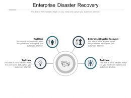 Enterprise Disaster Recovery Ppt Powerpoint Presentation Show Graphics Cpb