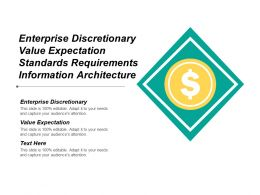 Enterprise Discretionary Value Expectation Standards Requirements Information Architecture