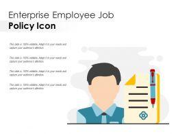 Enterprise Employee Job Policy Icon