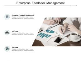 Enterprise Feedback Management Ppt Powerpoint Presentation Portfolio Master Slide Cpb