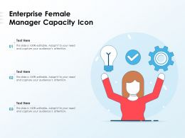 Enterprise Female Manager Capacity Icon
