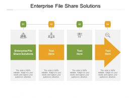 Enterprise File Share Solutions Ppt Powerpoint Presentation Portfolio Maker Cpb