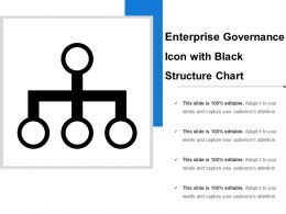 Enterprise Governance Icon With Black Structure Chart