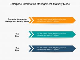 Enterprise Information Management Maturity Model Ppt Powerpoint Outline Cpb