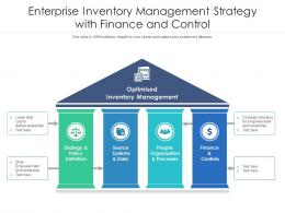 Enterprise Inventory Management Strategy With Finance And Control