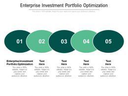Enterprise Investment Portfolio Optimization Ppt Powerpoint Presentation Model Deck Cpb