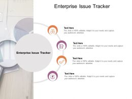 Enterprise Issue Tracker Ppt Powerpoint Presentation Slides Portfolio Cpb