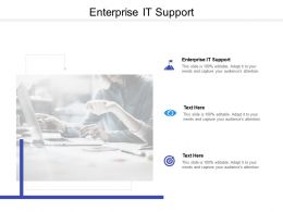 Enterprise IT Support Ppt Powerpoint Presentation Icon Deck Cpb
