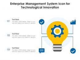 Enterprise Management System Icon For Technological Innovation