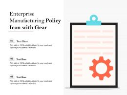Enterprise Manufacturing Policy Icon With Gear