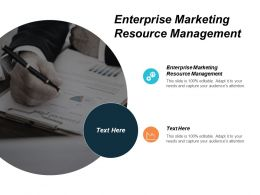 Enterprise Marketing Resource Management Ppt Powerpoint Presentation Infographic Template Samples Cpb