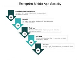 Enterprise Mobile App Security Ppt Powerpoint Presentation Pictures Tips Cpb