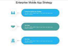 Enterprise Mobile App Strategy Ppt Powerpoint Presentation Inspiration Slides Cpb