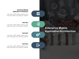Enterprise Mobile Application Architecture Ppt Powerpoint Presentation Inspiration Graphics Cpb