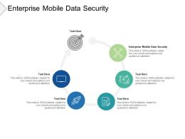 Enterprise Mobile Data Security Ppt Powerpoint Presentation Pictures Cpb