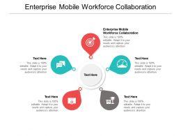 Enterprise Mobile Workforce Collaboration Ppt Powerpoint Presentation Model Shapes Cpb