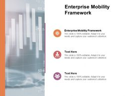 Enterprise Mobility Framework Ppt Powerpoint Presentation Icon Slideshow Cpb