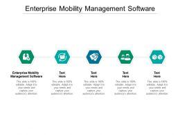 Enterprise Mobility Management Software Ppt Powerpoint Presentation Portfolio Graphics Pictures Cpb